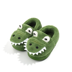 Toddler / Kid Animal Dinosaur Velvet Solid Boots