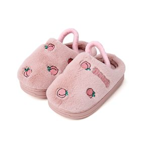 Toddler / Kid Fruit Strawberry Pattern Velvet Home Slippers
