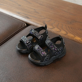 Toddler / Kid Sequined Velcro Closure Sandals