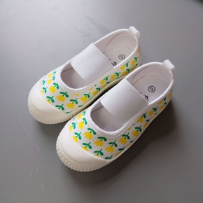 Toddler / Kid Flower Polka Dots Canvas Shoes