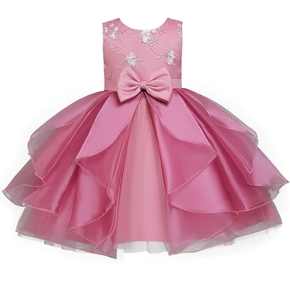 Baby / Toddler Girl Bowknot Irregular Party Dress