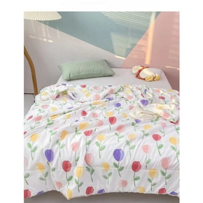 1PCS Tulip Pure Brushed Blanket, Single Double Skin-friendly, Cool Summer Quilt, Air-conditioning Quilt, Good Product Thin Quilt, Thin Cool Quilt