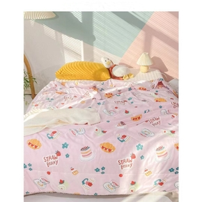 1PCS Pink Pattern Pure Brushed Blanket, Single Double Skin-friendly, Cool Summer Quilt, Air-conditioning Quilt, Good Product Thin Quilt, Thin Cool Quilt