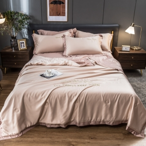 Summer Cool Fiber Quilt Blanket Thin Hygroscopic Comforter Air Condition Duvet Bedding Patchwork Quilted Bedspread Cover