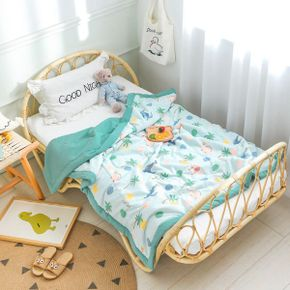 Summer Washed Cool Quilt Polyester Air-conditioning Thin Comforter Soft Breathable Blanket Bedspread