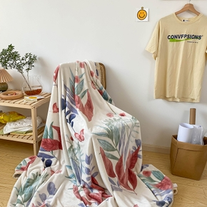 Floral Soft Blanket Cool Summer Quilt Air-conditioning Quilt Thin Cool Feeling