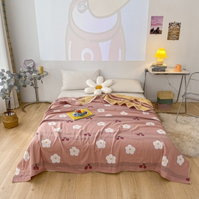 Summer Skin Wash Cotton Cute Flower Cool Quilt Double Air Conditioner Washable Children's Quilt Single Double Thin Quilt