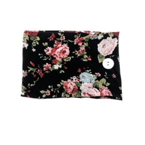 Floral Print Headband With Fastener