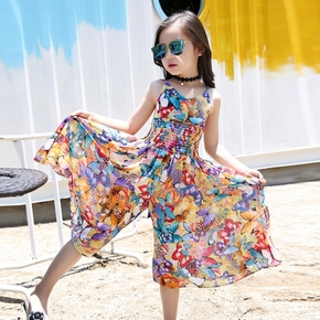 Toddler Girl Butterfly Floral Print Jumpsuit