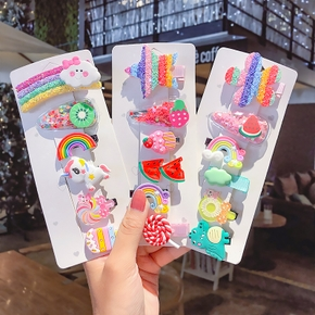6-piece Colorful Hairpins for Girls