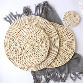 Natural Plant Braided Placemat Kitchen Table Heat Shield