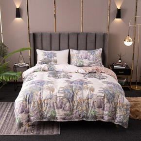 Coral Plant Printed Quilts Summer Thin Air-conditioned Comforter Queen Size Colcha Duvets Single Bed