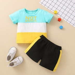 2pcs Cotton Short-sleeve Baby Boy casual Plaid Baby's Sets