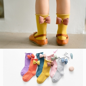 Baby / Toddler Solid Bowknot Socks