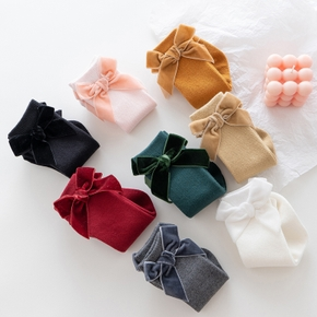 Baby / Toddler Solid Bow Decor Mid-calf Socks