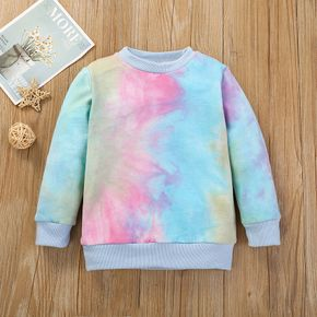 Baby / Toddler Tie-dye Colorful Long-sleeve Pullover