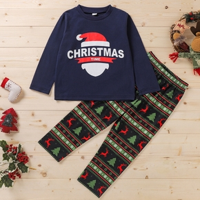 2-piece Baby / Toddler Christmas Letter Top and Pants Set