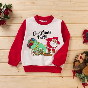 Baby Unisex casual Santa Claus Pullovers Christmas Fashion Cotton Long Sleeve Infant Clothing Outfits