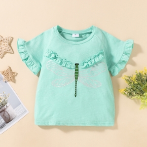 2-piece Baby / Toddler Girl Dragonfly Animal Tee