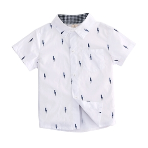 1 pc Kid Boy Short-sleeve Cotton casual Shirt/blouse