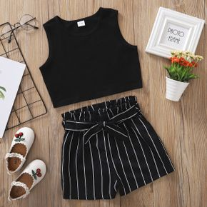 Fashionable Kid Girl Striped Casual Set