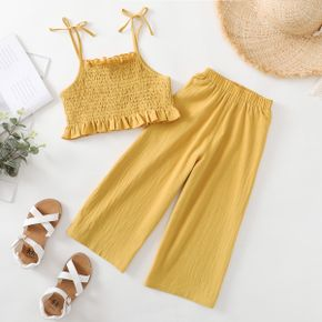 Beautiful Kid Girl Plain Camisole Casual Set