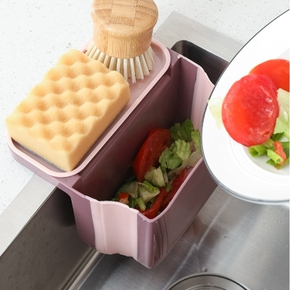 Kitchen Storage Sink Rack Bathroom Organizer Shelf Soap Dish Holder Suction-cup Sponge Rags Chopsticks Hanging Basket