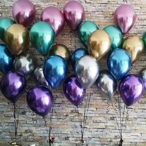 10Pcs Metallic Chrome Balloons Birthday, Wedding, Graduation Season Decoration