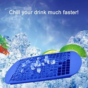 160 Grids Square Shape Silicone Ice Tray DIY Creative Mini Ice Cube Mold Fruit Ice Cube Maker Bar Accessories