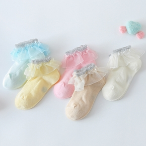 Baby / Toddler / Kid Mesh Lace Flounced Socks