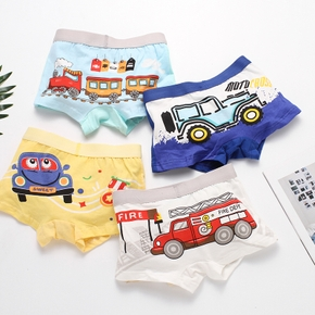 4-Pack Baby / Toddler Boy Cartoon Car Underwear