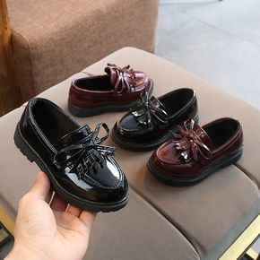Toddler Solid Bowknot Slip-on Shoes