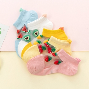 5-pack Toddler / Kid Cartoon Fruit Socks