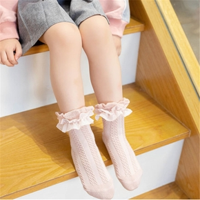 Baby / Toddler / Kid Solid Lace Breathable Socks