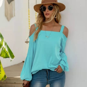 Pretty Off-shoulder Long-sleeve Tee