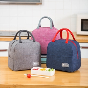 Functional Pattern Waterproof Lunch Box Portable Insulated Canvas Lunch Bag Food Picnic Lunch Bag Kids Women