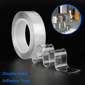Nano Transparent Double-sided Tape Waterproof Resistant Strong High Ciscosity And No Mark