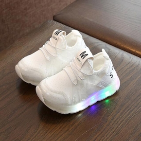 Toddler / Kid Solid Breathable LED Sports Shoes