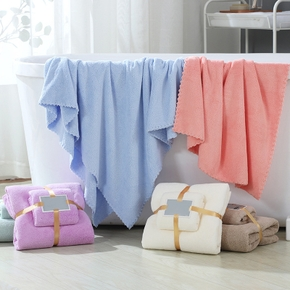 2PCS Coral Fleece Towel Bath Towel Mother and Child Towel Dry Hair Towel Set Soft Water-absorbent Fast Dry Face Towel