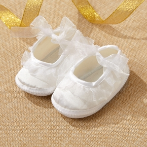 Baby / Toddler Solid Lace Bowknot Prewalker Shoes