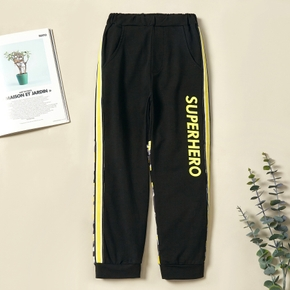Trendy Letter Striped Elasticized Jogger Sweatpants