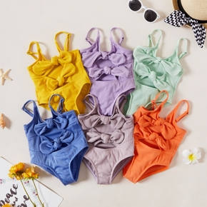 1pc Baby Girl Bowknot cute Solid Swimsuit