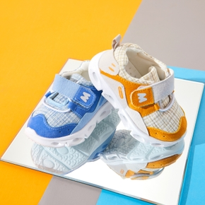 Toddler Grid Velcro Closure Sports Shoes