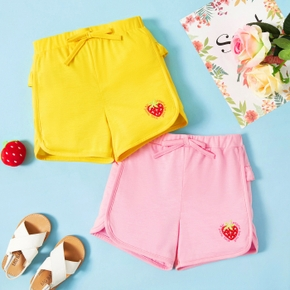 Toddler Girl  Strawberry Multi-color Shorts
