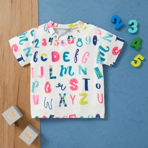 1pc Baby Unisex Short-sleeve  Stylish casual Letter Tee