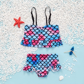 2-piece Toddler Girl Print Camisole and Briefs Swimsuit