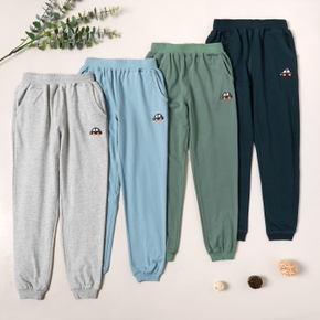 Fashionable Car Embroidered Sweatpants