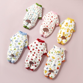 Cotton Four-Legged Pajamas Knitted Pet Clothes Home Clothes Pajamas