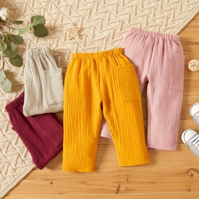 Crepe 100% Cotton Solid Baby Pants