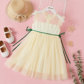 Beautiful Kid Girl Flutter-sleeve Mesh Layered Party dress Costume